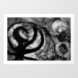 erased Art Print