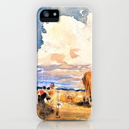 Landscape with Gypsies and Wagon - Digital Remastered Edition iPhone Case