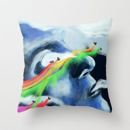 rainbow_birds_1 Throw Pillow