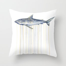 Tiger Shark Throw Pillow