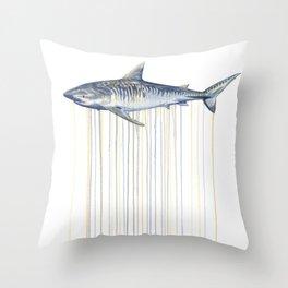 Tiger Shark Throw Pillow
