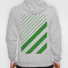 Green And White Stripes Pattern Hoody