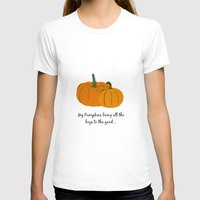 pumpkin T-shirts featuring Pumpkin by Laura Maria Designs