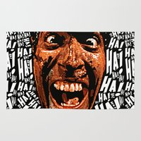 evil dead Area & Throw Rugs featuring HA! HA! HA!  |  EVIL DEAD 2:  DEAD BY DAWN by Silvio Ledbetter