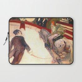 """Henri de Toulouse-Lautrec """"Equestrienne (At the Cirque Fernando)"""" Laptop Sleeve"""