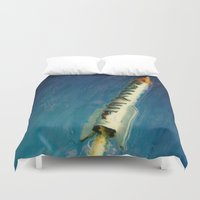 rocket Duvet Covers featuring Rocket by Kevin Garrison