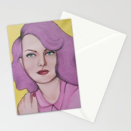 Glitter hair Stationery Cards