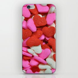 Pink and red candy hearts iPhone Skin