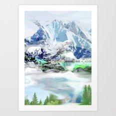 French Alp scene Art Print