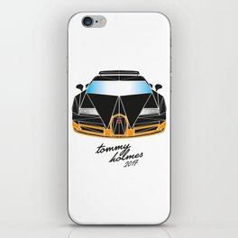 Black Bugatti Veyron made out of triangles iPhone Skin