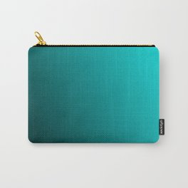 Gradient Aqua and Black Carry-All Pouch