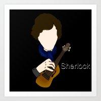 superwholock Art Prints featuring Sherlock Violin by Carryon_Waywardsun