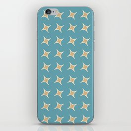 CONSTELLATION yellow stars with turquoise background iPhone Skin