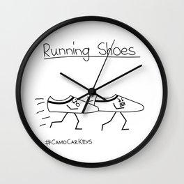 Running Shoes Wall Clock