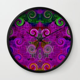 Neon Delight Wall Clock