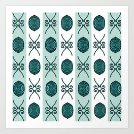 Bristle Mint Art Print