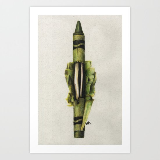 To The Core: Green Art Print