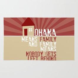 Ohana Means Family - Lilo & Stitch Rug