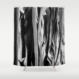 The Holy Book - High Contrast Black And White Typographic Design Shower Curtain