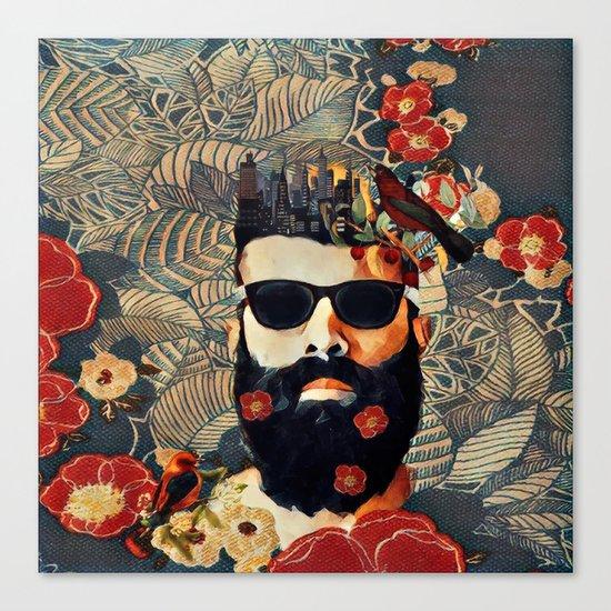 Beard and glasses Canvas Print