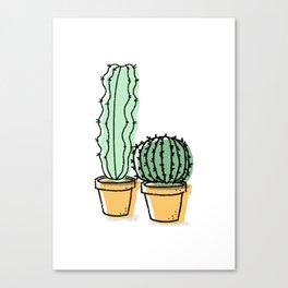 Cactus Pals Canvas Print