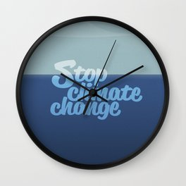 Stop climate change, save the icebergs Wall Clock