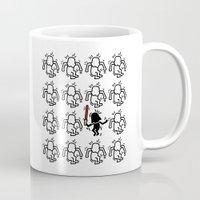 keith haring Mugs featuring Haring - étoiles W. #2 by Krikoui