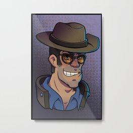 Blue Sniper Metal Print