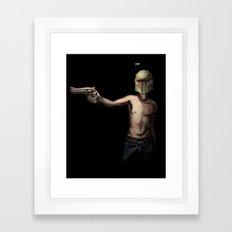 Boba Fett's Smith and Wesson Framed Art Print