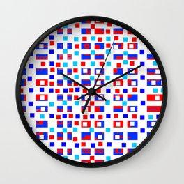 Color square 13 Wall Clock