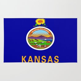flag Kansas-america,usa,middlewest,Sunflower State, Kansan,Topeka,Wichita,Overland Park,Wheat State Rug