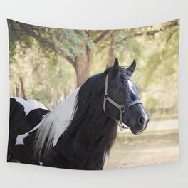 Stunning Gypsy Vanner in Color Wall Tapestry