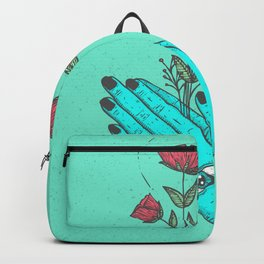 pray to nature. Backpack