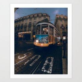 Tram at Lisbon Art Print