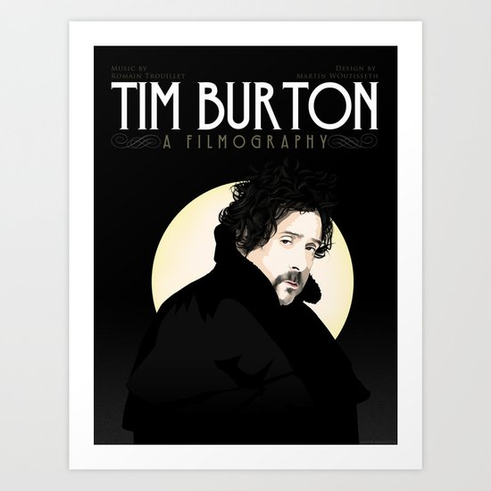 Tim Burton - A Filmography Art Print