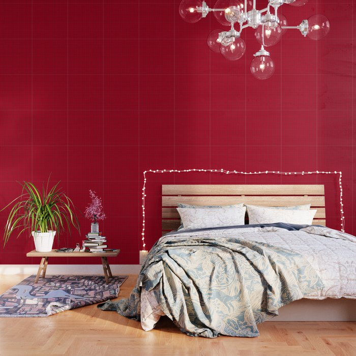 Red With Black Grid Wallpaper By Lovelylifestyle