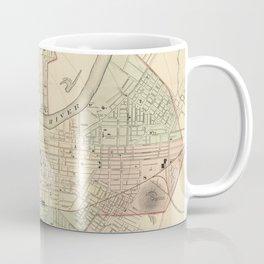 Vintage Map of Nashville Tennessee (1877) Coffee Mug