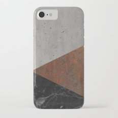 Concrete, rusted iron, marble abstract iPhone 7 Slim Case