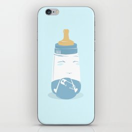 Baby bottle with diaper iPhone Skin