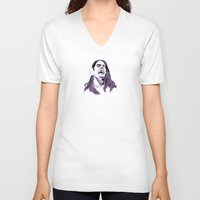 snl V-neck T-shirts featuring Bill Hader by deathtowitches