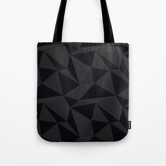 Triangular Black Tote Bag