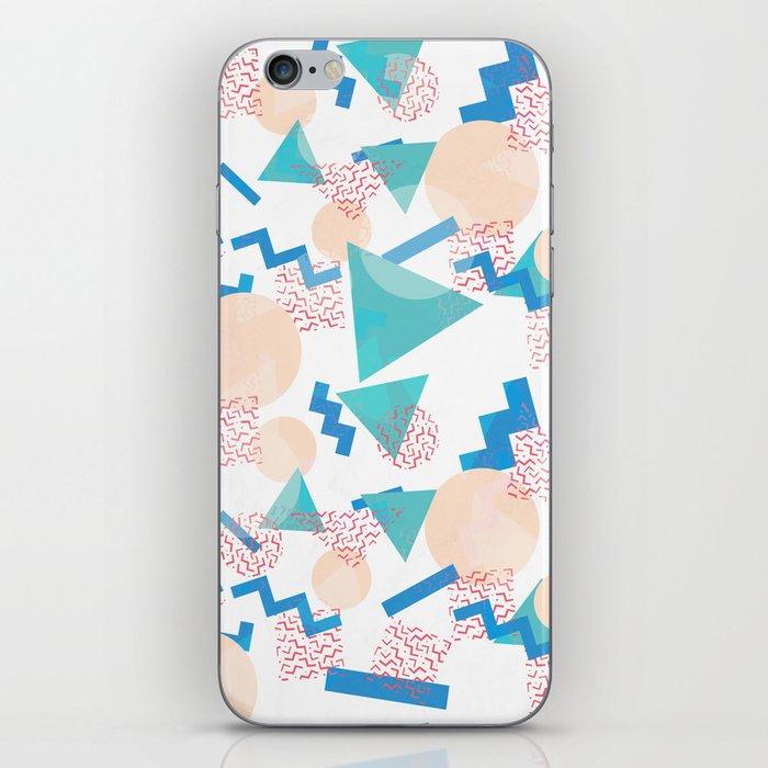 90's Pastel Geometric Pattern iPhone Skin