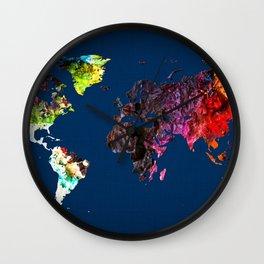 World Map 6 Wall Clock