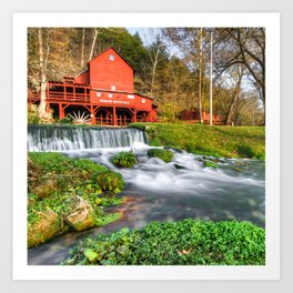 Hodgson Water Mill - Missouri - Square Format Art Print