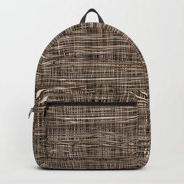 Burlap Lace Texture Backpack