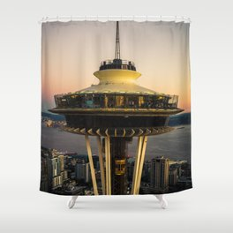 Space Needle (close-up) Shower Curtain