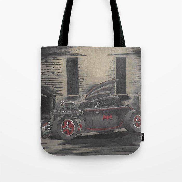 Hot Rod Batmobile  Tote Bag