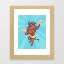Minotaur Cheer Framed Art Print