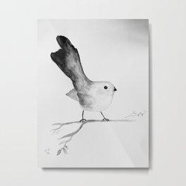 Fantail watercolour  Metal Print