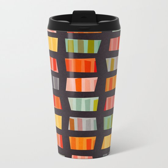 BEACH TOWELS ON BASALT Metal Travel Mug